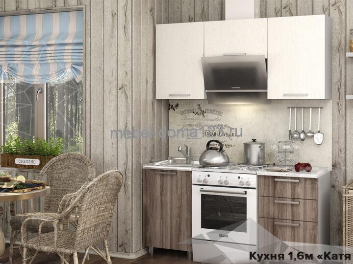 Катя-2 Кухня 1,6м, ясень шимо/дуб атланта