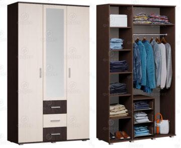 Шкафы 3-дверные