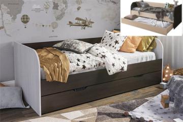 Кровать Балли венге/дуб белтфорд